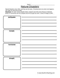 natural disaster essay ideas for children