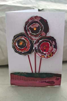 recycled magazine card