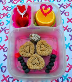 Mini heart sandwich school lunchbox | packed in @EasyLunchboxes containers
