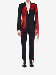 Shop Men's Brush Stroke Jacket from the official online store of iconic fashion designer Alexander McQueen. Look Fashion, Fashion Details, High Fashion, Womens Fashion, Fashion Design, Mens Suits, Menswear, Outfits, How To Wear
