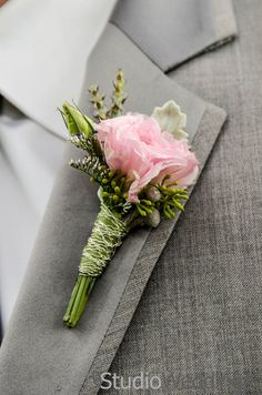 Pink Carnation Boutonniere