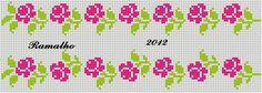 Harika Cross Stitch Letters, Cross Stitch Boards, Cross Stitch Rose, Cross Stitch Baby, Cross Stitch Embroidery, Knitting Charts, Knitting Patterns, Crochet Patterns, Tapestry Crochet