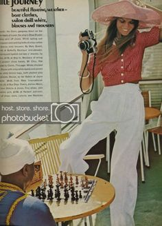 Jean Shrimpton photographed in Egypt by David Bailey for Vogue UK , January Most perfect summer outfits ever! David Bailey Photography, Vintage Outfits, Vintage Fashion, Vintage Style, Jean Shrimpton, English Fashion, Wide Trousers, Boating Outfit, Vintage Swimsuits