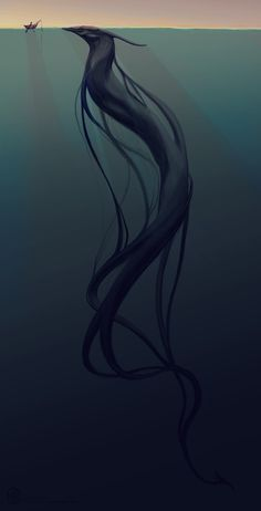 Digital Art, Lockdream, monster art, CircuitDruid ✤  That was the day I first saw her. A beauty to top all sea creatures. I knew she was dangerous - it's common knowladge but I couldn't help but be drawn to her... And I must be fooling myself but I think she was drawn to me too