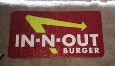 Glitter In-N-Out sign