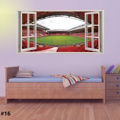 Stadium Football Wall Sticker Mural Decal For Kids Bedroom Graphics Home  Decor
