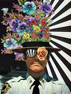 Zimbardo // #vs2bsciencemag Eugenia Loli Sheriff police flowers stripes