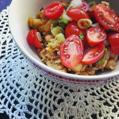 It says balance and contrast...Skillet Rice with Chickpeas, Coconut Milk & Tomatoes