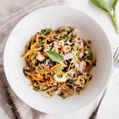 Butternut Squash Noodles with Creamy Garlic Sauce