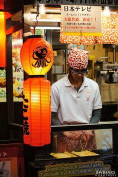 Chef at the Red Monster, Dotonbori, Osaka, Japan