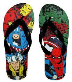 93a150d8b661 Avengers Marvel Comics Superheroes Mens Flip Flops Slippers
