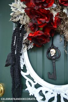 Use a Picture Frame to Create an Elegant Halloween Wreath