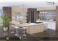 Lana CC Finds - Cayenne kitchen by SIMcredible