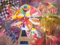 """Saatchi Art Artist Hans Simtanda Caspersen; Painting, """"Kindergarden Street"""" #art"""