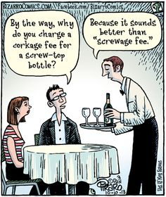 Wine Corkage Fee Funny!