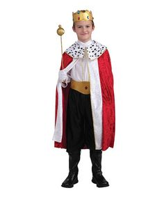 Cape and Crown 3-8 years Blue Kids Boys Kings Fancy Dress Costume