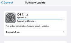 Cómo Solucionar el Bloqueo al Actualizar a iOS 7.1.2 Reportado por Algunos Usuarios Apple Inc, Ios 7, Learning, Studying, Teaching, Onderwijs
