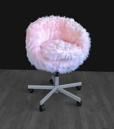 Most Comfortable Office Chair Ikea Chair, Diy Chair, Chair Upcycle, Girl Bedroom Designs, Girls Bedroom, Bedroom Chair, Bedroom Decor, Cute Room Decor, Pink Room