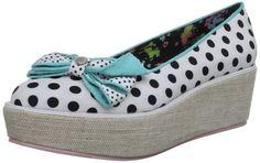 Babycham Women's Tai White/Black Brogue ILS038 6 UK: Amazon.co.uk: Shoes & Bags
