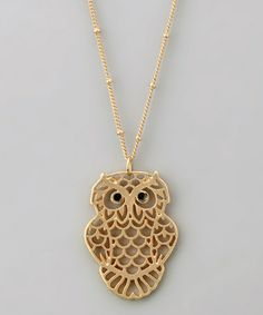 Vintage owl necklace gold owl pendant small owl necklace vintage lavishy gold owl pendant necklace aloadofball