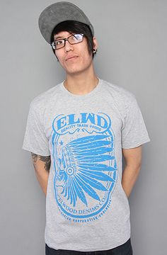 The Chief Rocka Tee in Heather Gray by Elwood