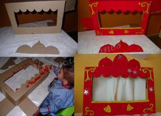 création du théâtre de marionnette Fun Crafts For Kids, Projects For Kids, Art For Kids, Art Projects, Diy And Crafts, Shadow Puppets, Hand Puppets, Emoji Images, Infant Activities