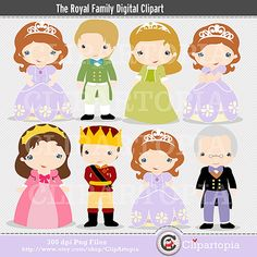 The Royal Family Digital Clipart for Personal and Commercial Use /INSTANT DOWNLOAD