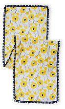 Lands' End Girls Lightweight Woven Scarf-Yellow Dandelion Flowers