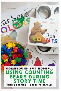 Story time can be a great time to reinforce basic foundation skills with your preschooler. Check out this fun story time that pairs Counting Bears with Karma Wilson's 'Bear' series to help teach colors and numbers. Bears Preschool, Preschool Colors, Teaching Colors, Preschool Curriculum, Preschool Kindergarten, Preschool Learning, Early Learning, Homeschool, Montessori Elementary