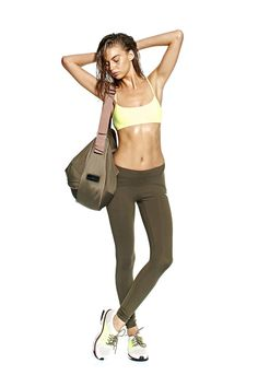 """High Rise """"Tummy Tuck"""" Full Length Tight - Dirty Olive"""
