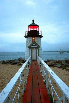 Brant Point Lighthouse, Nantucket #massachusetts #travel Credit: Larry Tocci of Yankee Magazine