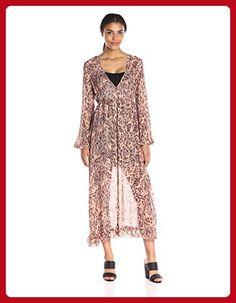 Somedays Lovin Women's Tequila Animal Print Kimono Sleeve Maxi Dress, Multi, Medium - All about women (*Amazon Partner-Link)