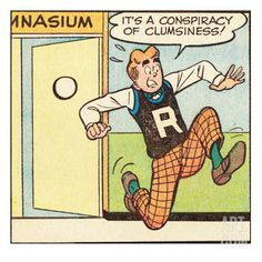 Archie Comics Retro: Archie Comic Panel; Conspiracy of Clumsiness (Aged) Print at Art.com