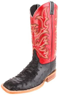 Justin Boots Men's Aqha Broad Square-toe Remuda Boot,Black/Red,11.5 EE US - http://authenticboots.com/justin-boots-mens-aqha-broad-square-toe-remuda-bootblackred11-5-ee-us/