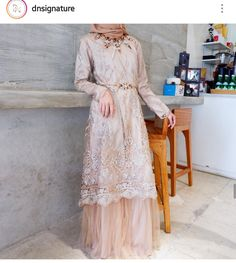 Kebaya Modern Dress, Kebaya Dress, Dress Pesta, Abaya Fashion, Muslim Fashion, Modest Fashion, Fashion Dresses, Dress Brokat Muslim, Muslim Dress