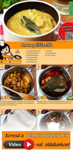 Ha egy gyorsan elkészíthető és olcsó fogásra vágysz, a krumplifőzelék mindig jó választás lehet! A Krumplifőzelék recept videóját a kártyán levő QR kód segítségével bármikor megtalálod! :) #Krumplifőzelék #Főzelék #Krumpli #ReceptVideók #Recept