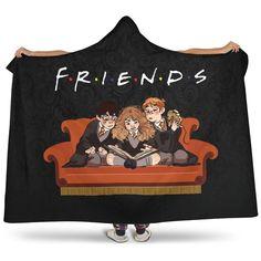 Harry Potter F.R.I.E.N.D.S Premium Hooded Blanket - Hooded Blanket - F.R.I.E.N.D.S / Adult 80x60