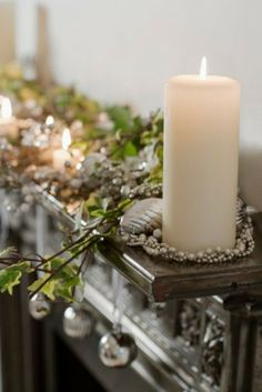 Christmas Fireplace Lighting Decorations for 2013      www.loveitsomuch.com
