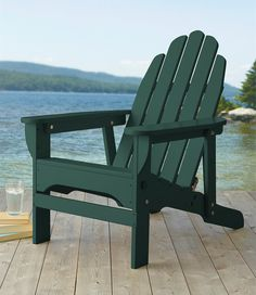 Folding Reclining Wooden Adirondack Chair · Wooden Adirondack ChairsLl BeanSweet  ...