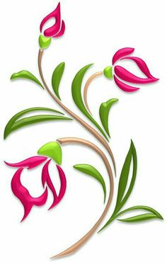 Flowers – Illustrations – Art & Islamic Graphics Flowers – Illustrations – Art & Islamic Graphics Image Size: 453 x 716 Source Stencil Patterns, Stencil Painting, Stencil Designs, Fabric Painting, Glass Painting Designs, Fabric Paint Designs, Hand Embroidery Designs, Embroidery Patterns, Illustration Blume