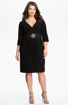 Alex Apparel Beaded Surplice Dress (Plus) available at #Nordstrom