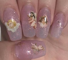 Image uploaded by soft baby. Find images and videos about love, pink and grunge on We Heart It - the app to get lost in what you love. Aycrlic Nails, Swag Nails, Hair And Nails, Manicure, Neon Nails, Best Acrylic Nails, Acrylic Nail Designs, Cute Nail Designs, Angel Nails