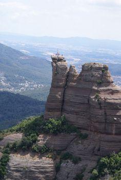 Pd4 al cim de la Castellassa de Can Torres (Pilar de 4 a Sant Llorenç de Munt )  Catalonia