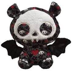 Skelanimals Diego (Bat) 6-Inch Beanie Plush