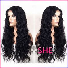 Find More Synthetic Wigs Information about HOT!!!Top quality  lace front wigs for black women synthetic glueless heat resistant wigs in stock free shipping,High Quality Synthetic Wigs from SHE Lady House on Aliexpress.com