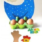 Easter+Hen+–+Egg+Carton+and+Cardboard