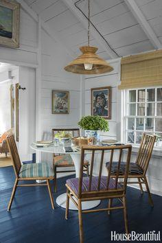 New house beautiful magazine dining breakfast nooks ideas Nantucket Style Homes, Nantucket Cottage, Beach Cottage Style, Beach Cottage Decor, Coastal Cottage, Nantucket Beach, Coastal Style, Coastal Living, Nantucket Decor