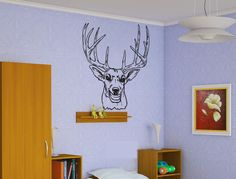 Deer Hunting Sticker Wall Vinyl Decal Elk Animal Mural Decoration Gift  #070 #HomeOfStickers