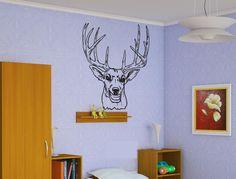 Deer Hunting Sticker Wall Vinyl Decal Elk Animal Mural Decoration Gift  #070 #HomeOfStickers