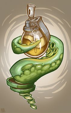 The Tentacle! by Maksim Azarkevič, via Behance